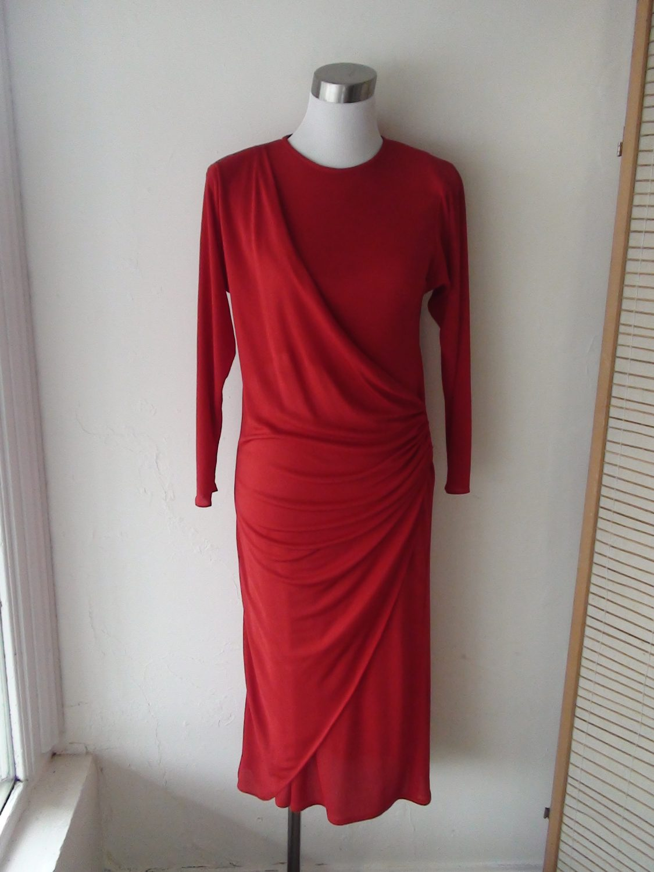 Red 1980s Carla Zampatti Dress